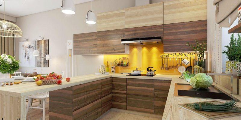 ۲۲ زمینه زردرنگ آشپزخانه که بسیار درخشان هستند