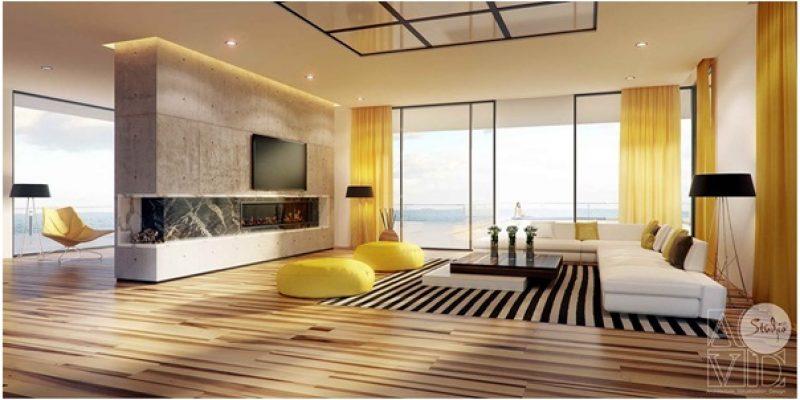 چگونه از رنگ زرد در طراحی اتاق پذیرایی استفاده کنیم؟ ( قسمت دوم)