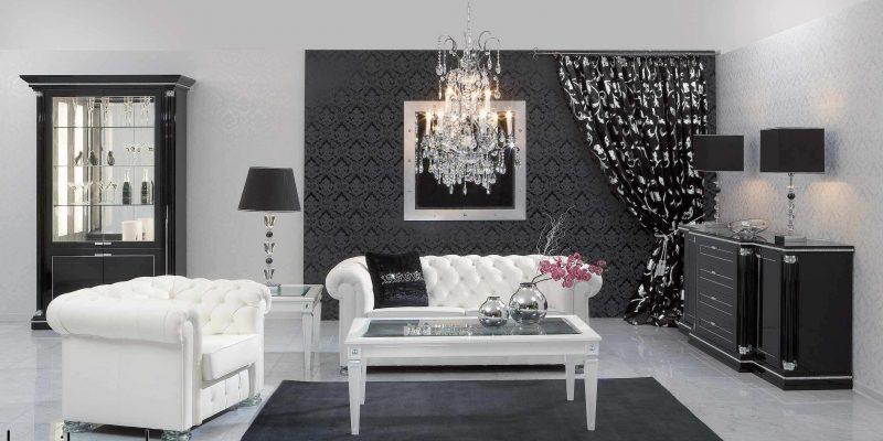 چگونگی استفاده از ترکیب رنگی سیاه و سفید در فضای نشیمن