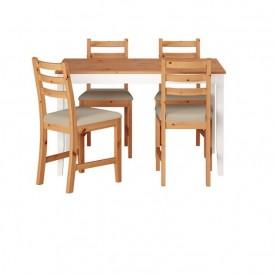میز و صندلی ناهار خوری ۴ نفره ایکیا مدل IKEA LERHAMN