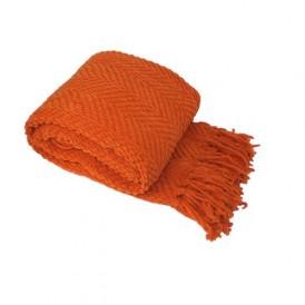 پتو سبک بافت پشمی ، نارنجی